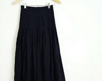 lange zwarte broekrok
