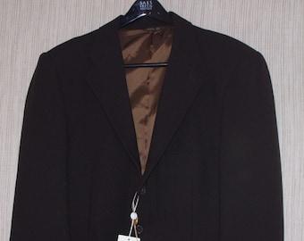 f8859db492c VALENTINO UOMO Brown Wool 3 Button Men s Sport Coat Jacket Size 54
