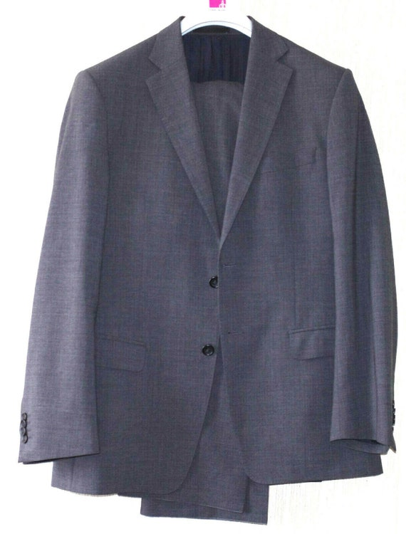 Versace Collection Gray Melange Two-Piece Wool Ble