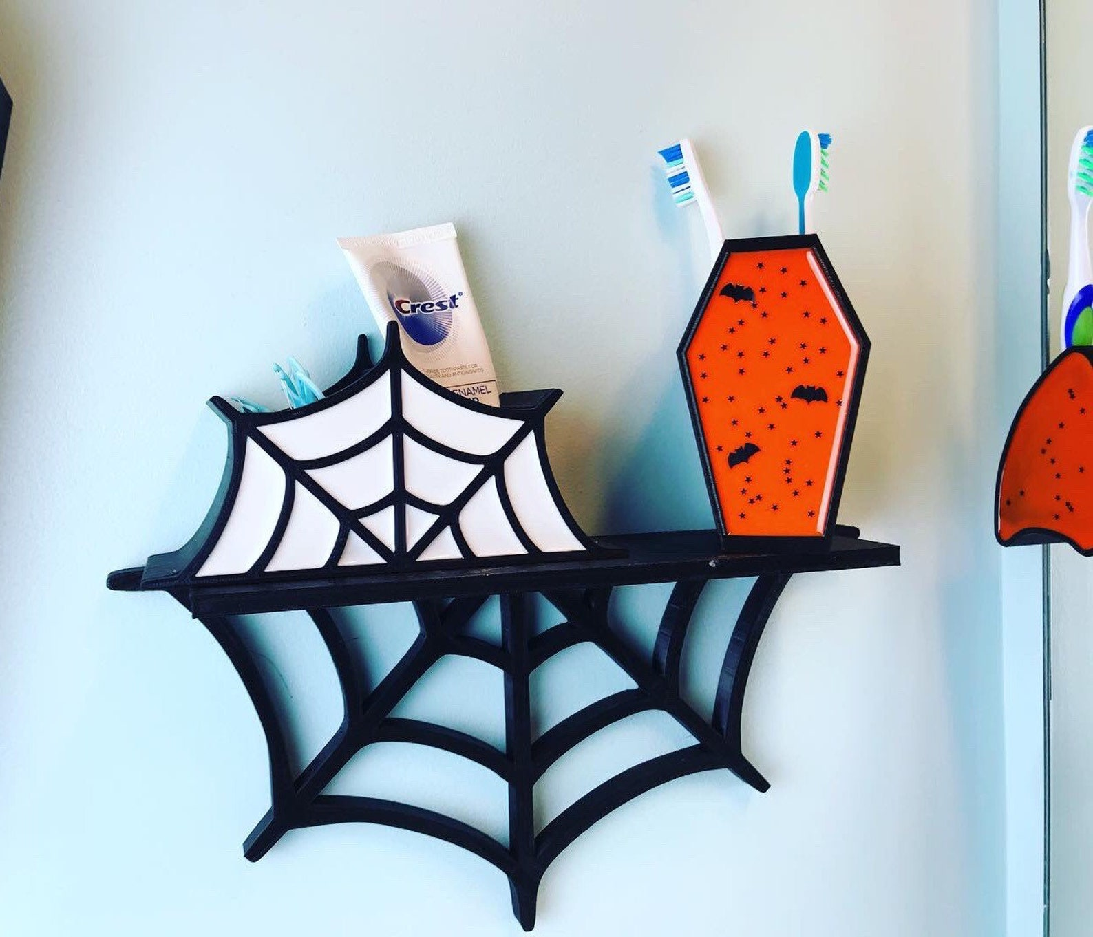 Spiderweb Wall Shelves by Zombie Krafts