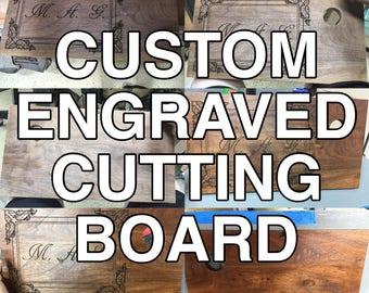 Custom Laser Engraved Cutting Board