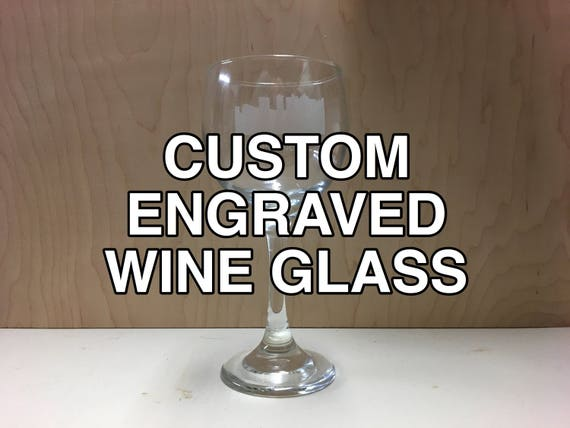 Custom Laser Engraved Wine Glass Set