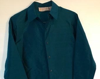 Teal and Gold Silk Tunic