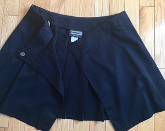 Wrap Around Pleated Mini Skirt Made in USA