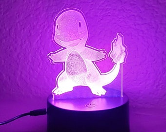 Custom Pokemon Inspired Color Changing LED Acrylic Light