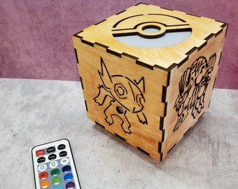 Custom Pokemon Inspired Color Changing LED Lantern