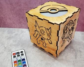 Custom Pokemon Night Light Color Changing with Remote! Pokemon Gifts - Pokemon Decor - Pokemon Light Box