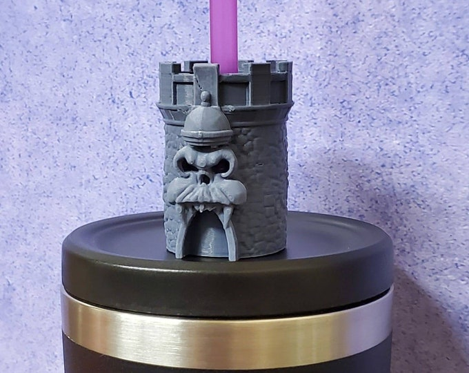 Grayskull Inspired Straw Topper / Straw Buddy / Straw Mate / Tumbler Accessory