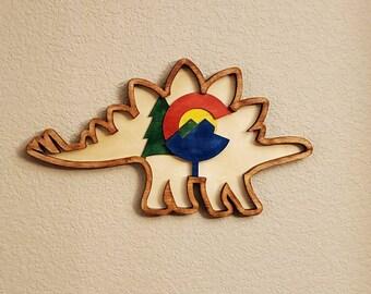 Stegosaurus Multi Level Wall Art Colorado state dinosaur!