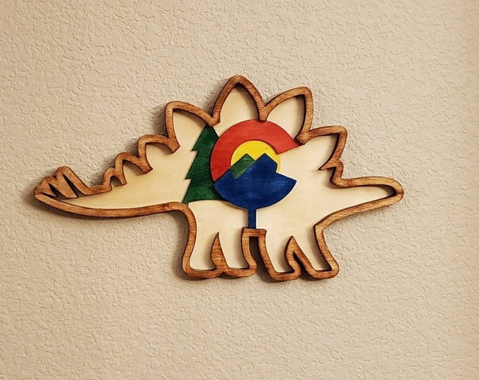 Stegosaurus Multi Level Wall Art Colorado state dinosaur!