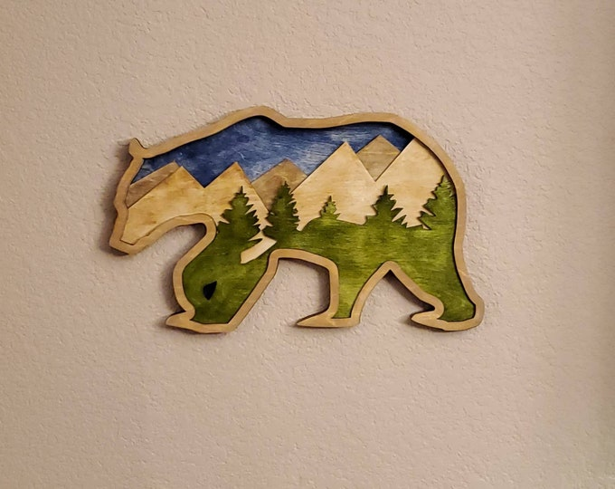 Bear Multi Level Wall Art