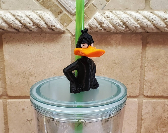 Ducky Duck 3D FDM Printed with Acrylic Eyes Straw Topper / Straw Buddy / Straw Mate / Tumbler Accessory