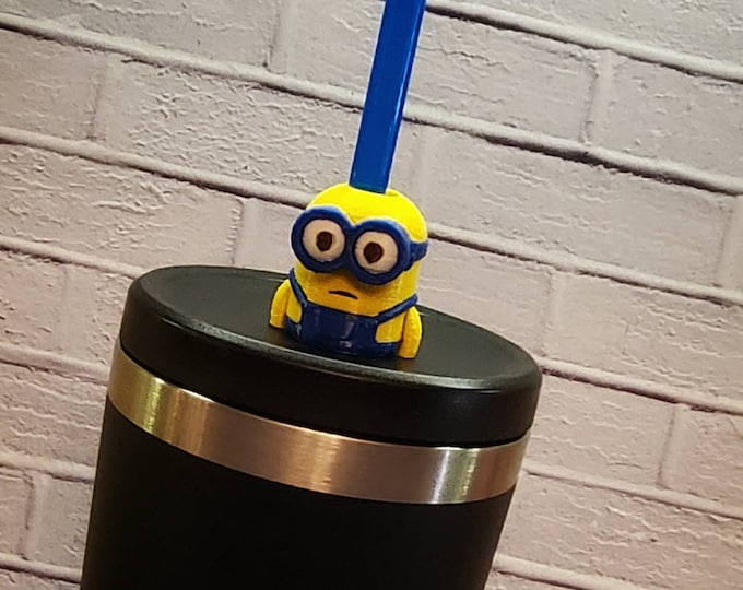 Terrible Helpers set of Two 3D FDM Printed Straw Topper / Straw Buddy / Straw Mate / Tumbler Accessory
