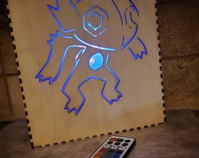 "Custom Pokemon Inspired Color Changing LED Light Box 8.5"" x 11"" x 3"""