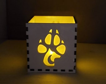 Primal Wolf LED Tea Light