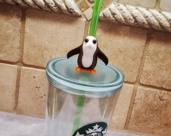 Mini Baby Alien Bird 3D FDM Printed with Acrylic Eyes Straw Topper / Straw Buddy / Straw Mate / Tumbler Accessory