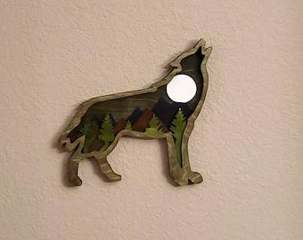 Wolf Multi Level Wall Art