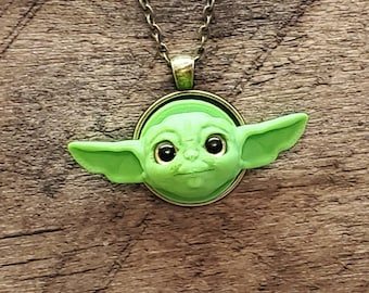 Baby Alien Magnetic Pendant Set 3D FDM Printed with Acrylic Eyes