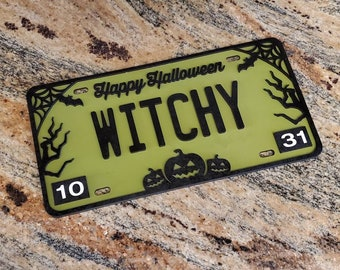 Halloween Door Hang License Plate