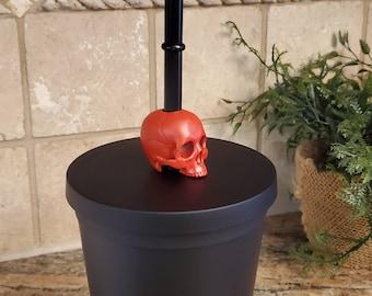 New! Mini Skull Straw Topper 3dPrint! 3d Printed Figure - Mug Topper - 3d Printed Figures - Skull Figure - Goth Straw Topper