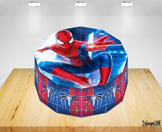 Wondrous Spiderman Birthday Cake Boxes Printable Spiderman Party Etsy Personalised Birthday Cards Paralily Jamesorg