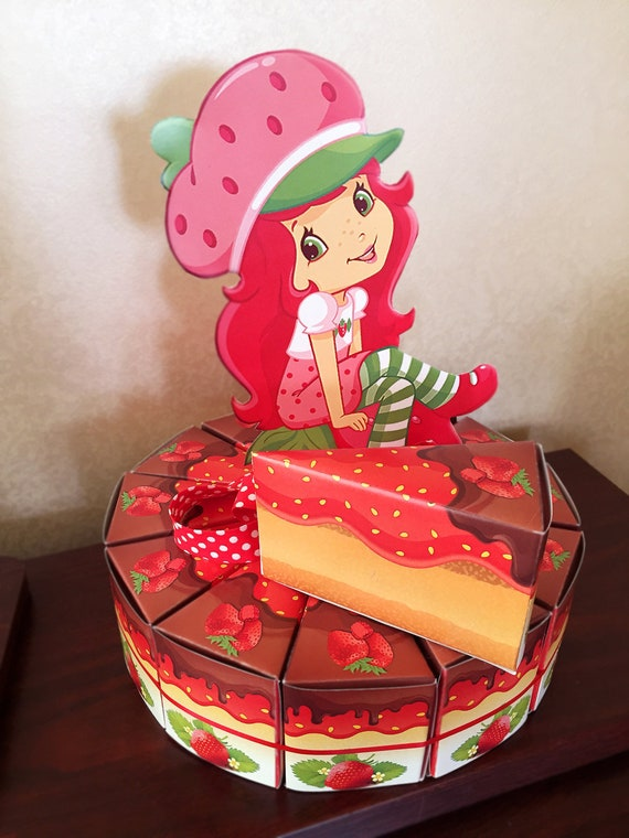 Strange Strawberry Shortcake Birthday Cake Boxes Printable Strawberry Etsy Personalised Birthday Cards Cominlily Jamesorg