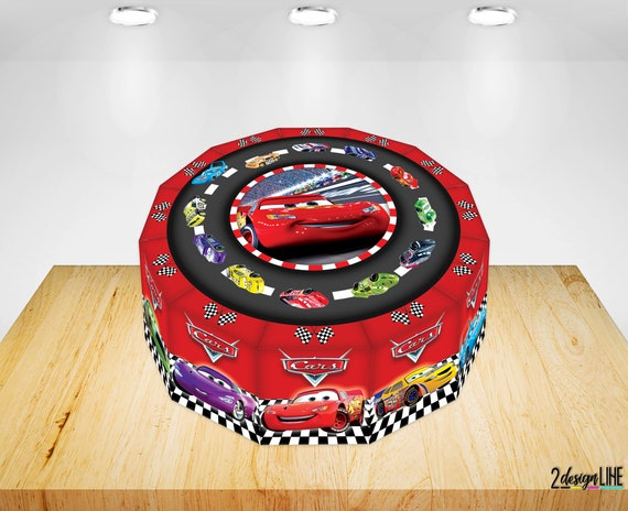 Enjoyable Disney Cars Birthday Cake Boxes Printable Cars Party Cake Etsy Funny Birthday Cards Online Alyptdamsfinfo