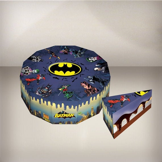 Awesome Batman Birthday Cake Superhero Batman Party Favors Printable Etsy Personalised Birthday Cards Veneteletsinfo
