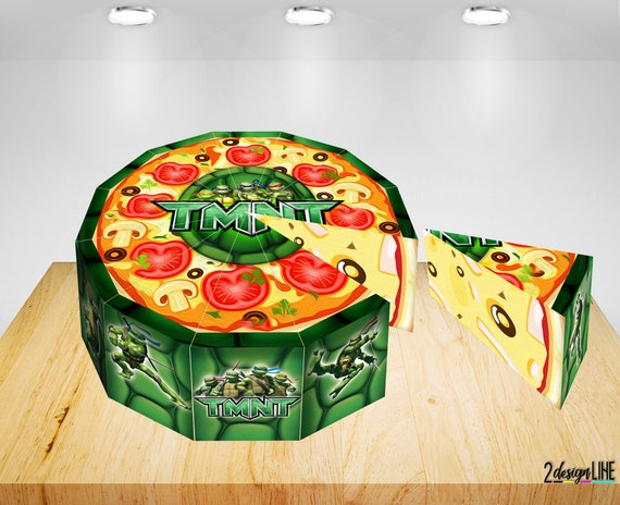 Wondrous Ninja Turtles Birthday Cake Boxes Printable Ninja Turtles Etsy Funny Birthday Cards Online Necthendildamsfinfo
