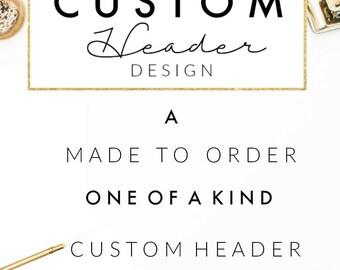 Custom Header / Logo Design // Custom Logo // Custom Blog Header // Wordpress // Blogger