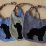 THREE (3) Newfie DOG Drool Bibs {CUSTOM Made} Newfoundland Dog Bib Set...Absorbs Amazingly!
