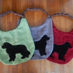 SALE! (3) Newfoundland Dog Drool Bibs, Dog Bib Set {CUSTOM Made}...Absorbs Amazingly!