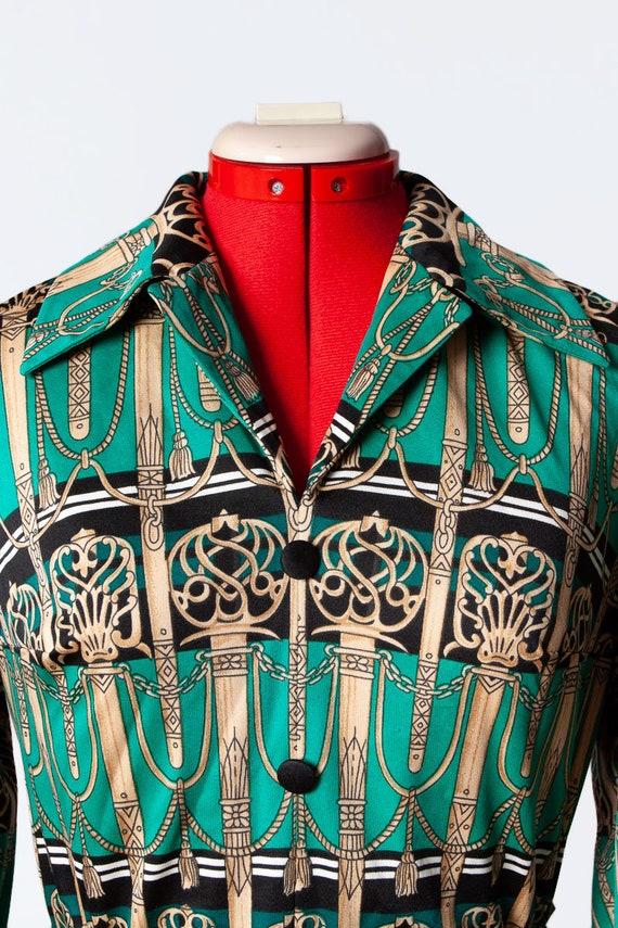 novelty print knit dress - image 5