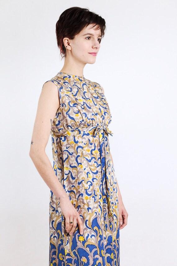1960s paisley print silk maxi dress - image 5