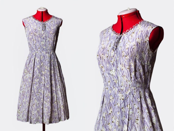 1940s cold rayon day dress