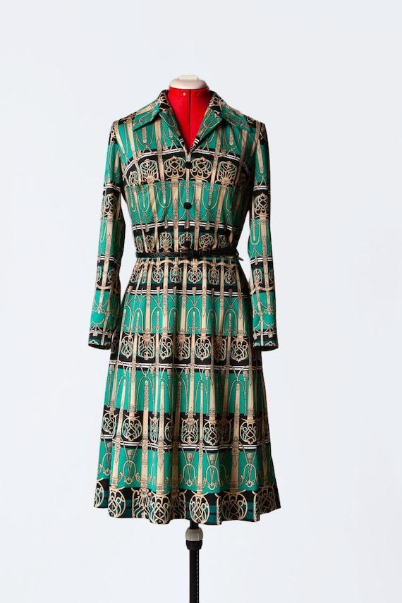 novelty print knit dress - image 2