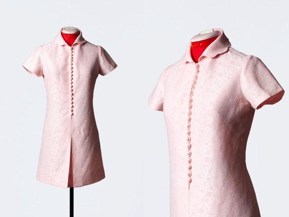 1960s pink mod dress
