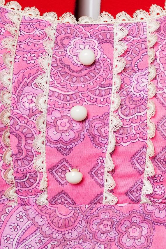 1960s paisley print maxi babydoll dress - image 9