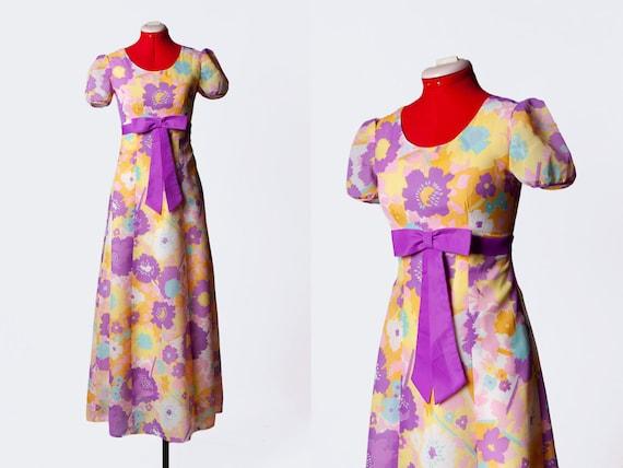 1960s babydoll maxi dress