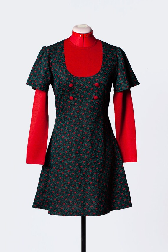 1960s knit mod dress - image 2