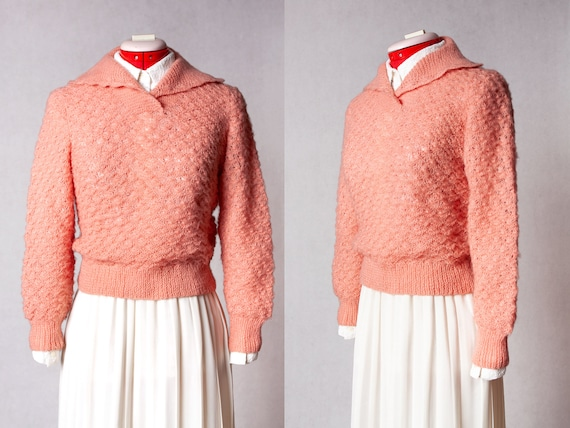 hand knit collared sweater