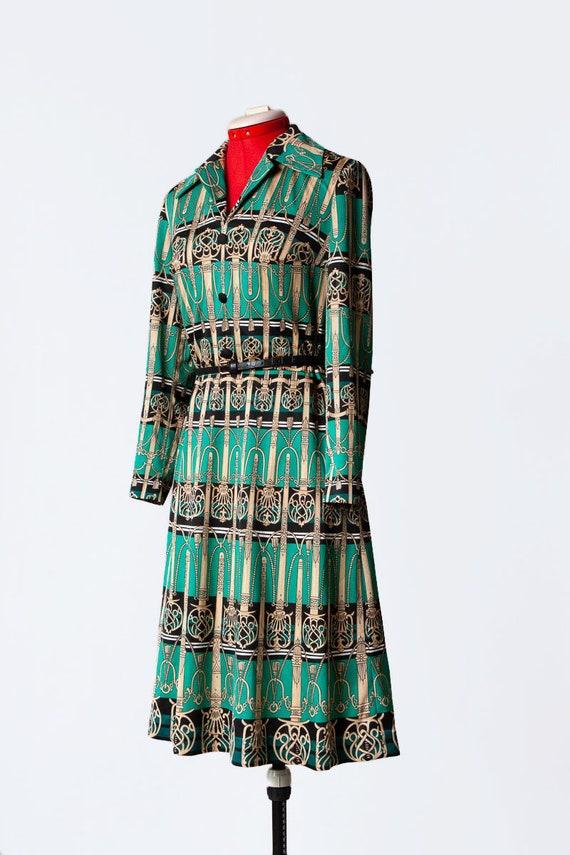 novelty print knit dress - image 6