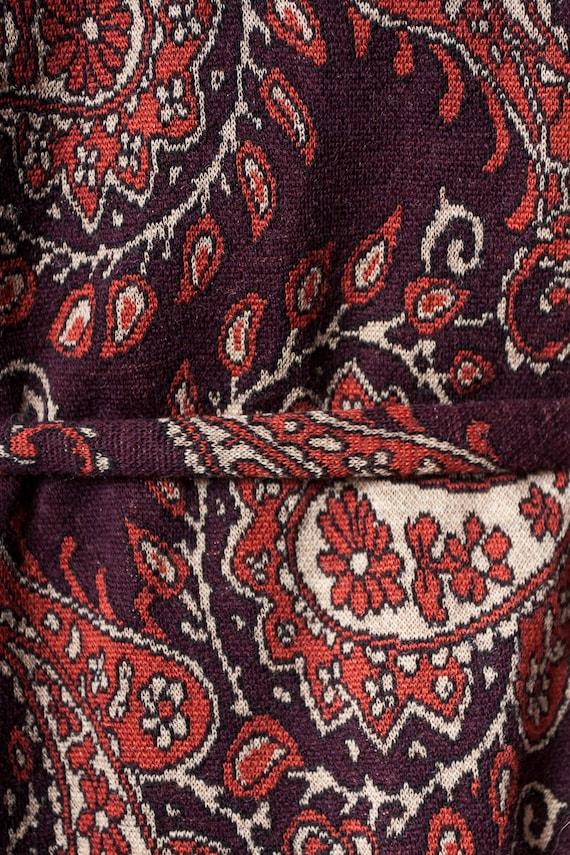 1960s paisley print wool dress - image 8