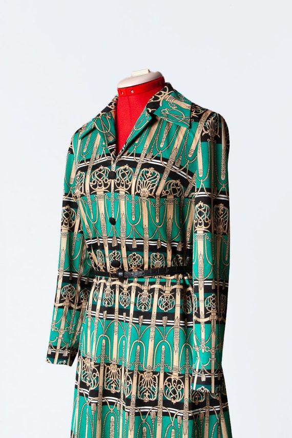 novelty print knit dress - image 7