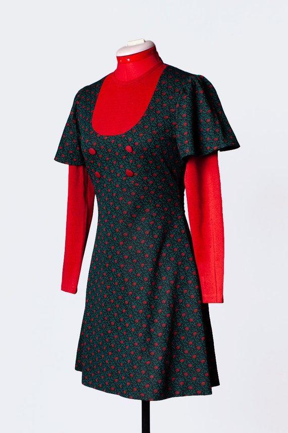 1960s knit mod dress - image 6