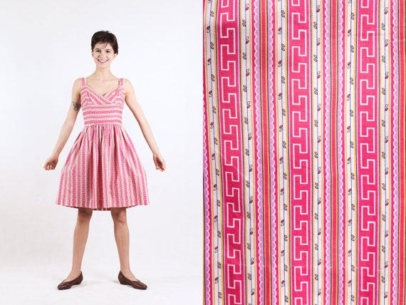 1950s geometric print sundress