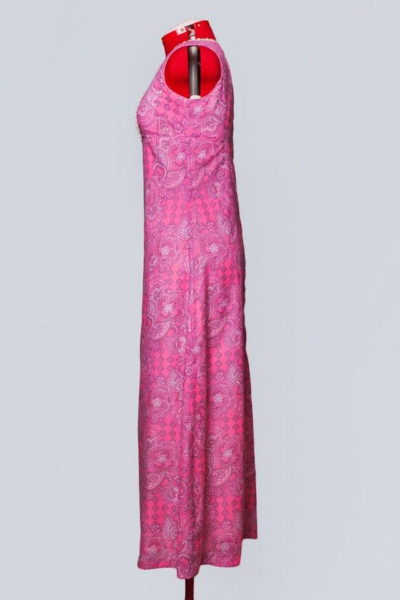 1960s paisley print maxi babydoll dress - image 4