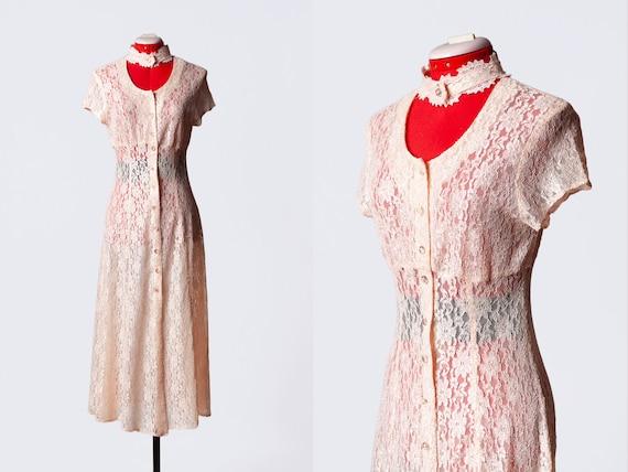 1980s lace dress