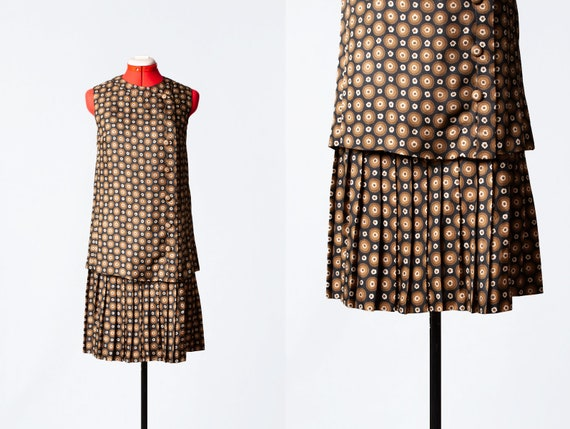 1960s couture mod dress