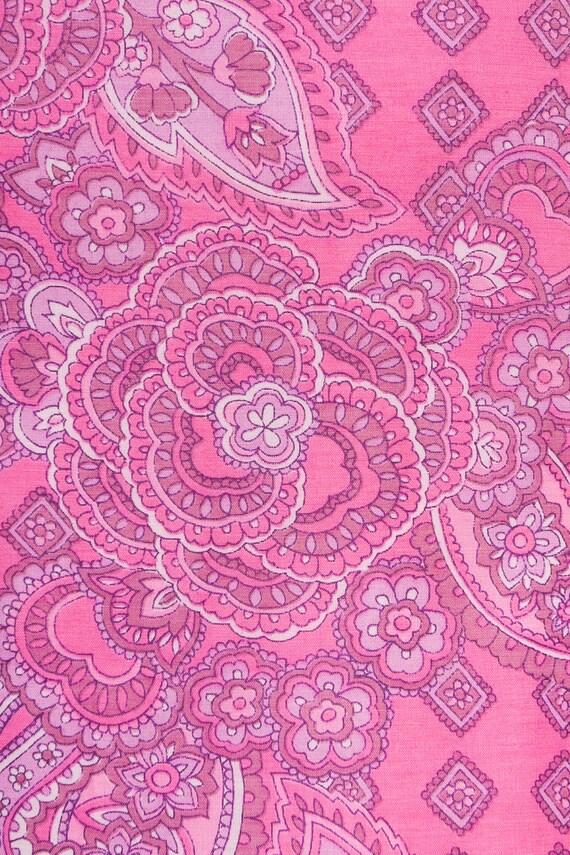 1960s paisley print maxi babydoll dress - image 10